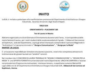 Invito alla laurea in mostra design comunicazione e moda for Laurea magistrale design