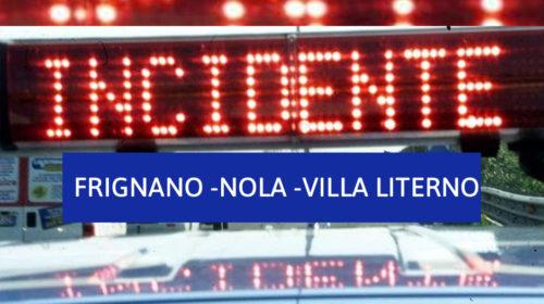 Frignano: Incidente Nola-Villa Literno, l'auto si ribalta, grave un poliziotto