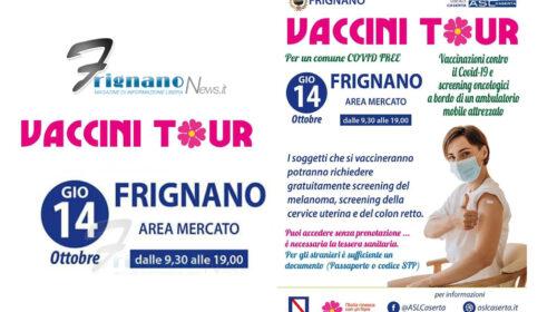 Frignano: Vaccini in Tour Giovedì 14 Dalle 09:30 alle 19:00, vacciniamoci senza prenotare